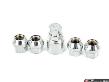 ES#4020183 - 034-604-2000 - Wheel Lock Nut Set  - Set of four high quality M14x1.5mm locking cone seat wheel nuts with key. - 034Motorsport - Audi Volkswagen