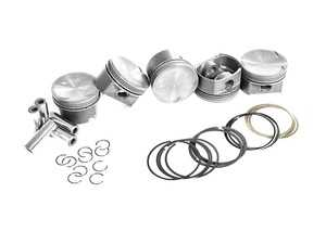ES#4138736 - MAH-PVO1 - Mahle PowerPak Piston Set For VW & Audi 2.5L/2.5T Engines - Powerful Reliability for the street or track! Includes rings, wire locks, and wrist pins - 82.5mm bore, 9.3:1 CR, 22mm wrist pins (for use with IE rods) - Mahle - Audi Volkswagen
