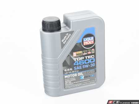 ES#3991620 - 20446 - Top Tec 4600 Synthetic Engine Oil (5w-30) - 1 Liter - Suitable for gasoline and diesel vehicles with and without particulate filter & exhaust gas turbo chargers - Liqui-Moly - BMW Mercedes Benz