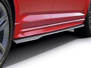 ES#4139127 - VJ27D04 - Side Skirt Set With Splitters - Choose Your Color - Two-tone sides skirts that come in satin black and either primer or factory paint - Air Design - Volkswagen