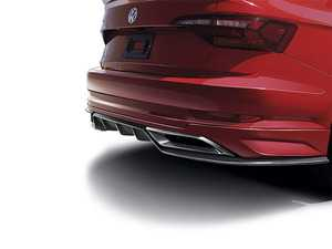 ES#4139126 - VJ27D05 - Rear Diffuser With Splitter & Exhaust Trim - Choose Your Color - Add an aggressive look to the rear of your MK7 Jetta. Comes in Satin Black and either primer or factory paint. - Air Design - Volkswagen