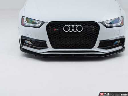 ES#4158342 - 025864ecs01aKT - Audi B8.5 S4 / A4 S-Line Facelift Front Lip - Splitter Style - Gloss Black - Upgrade your exterior styling! - ECS - Audi