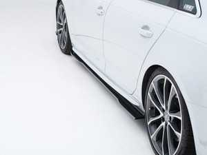ES#4163869 - 001734la01 - Audi B9 A4 / S4 Flat Side Skirts - Gloss Black - Enhance your side profile with an aggressive look! - ECS - Audi