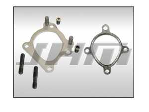ES#4046113 - RS6UDPFBO - Downpipe Flange For RS6 or RS6-R Turbos - Pair (Bolt On) - This is a universal flange that will allow you to run RS6 style turbos (with OEM RS6 turbine bolt patterns) on your current K03-K04 flanged downpipes. Just bolt these flanges to the back of your turbos! - JH Motorsports  - Audi