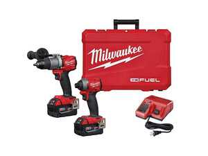 "ES#4141340 - MWK-2997-22 - M18 FUEL 2-Tool Combo Kit - Includes M18 FUEL 1/2 Hammer Drill/Driver and M18 FUEL 1/4"" Hex Impact Driver - Milwaukee - Audi BMW Volkswagen Mercedes Benz MINI Porsche"
