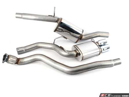 """ES#2613544 - 15519 - Performance Cat-Back Exhaust System - Sport - Mandrel bent 3"""" 409 Stainless steel construction with dual tip, single exit polished tips - Magnaflow - Audi"""