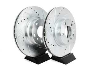 ES#3477502 - EBR1238XPR - Evolution Tru-Cast Drilled And Slotted Rotor Pair - Front (328x28) - Performance rotors built to cool quickly and prevent corrosion for years of rough us and abuse. - Power Stop - BMW