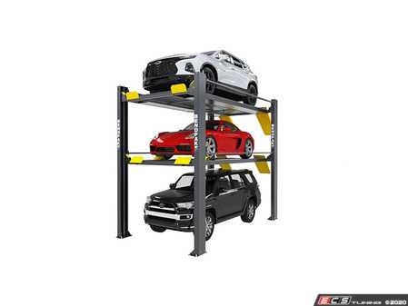 ES#4141492 - HD-973PX - BendPak Tri-Level Parking Lift - 9,000 & 7,000lb Capacity - Extended - Hold 3 full-size trucks or SUVs weighing up to 7,000 lbs on the top platform and 9,000 lbs on the bottom platform - BendPak - Audi BMW Volkswagen Mercedes Benz MINI Porsche