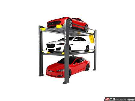 ES#4000806 - HD937P - BendPak Tri-Level Parking Lift - 9,000 & 7,000lb Capacity - Hold 3 sedans or SUVs weighing up to 7,000 lbs on the top platform and 9,000 lbs on the bottom platform - BendPak - Audi BMW Volkswagen Mercedes Benz MINI Porsche