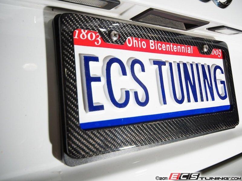 Ecs 6373 Carbon Fiber License Plate Frame