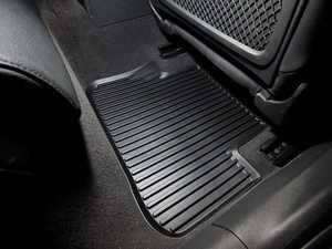 ES#450233 - 8K0061511041 - Rear All Weather Rubber Floor Mats - Satin Black - Deep grooves to trap dirt, water, and snow - Genuine Volkswagen Audi - Audi