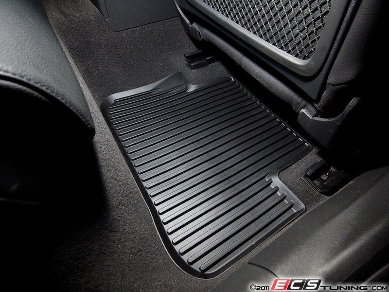 Genuine Volkswagen Audi K Rear All Weather Rubber - Audi a4 car mats