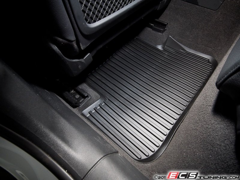 es450233 rear all weather rubber floor mats satin black