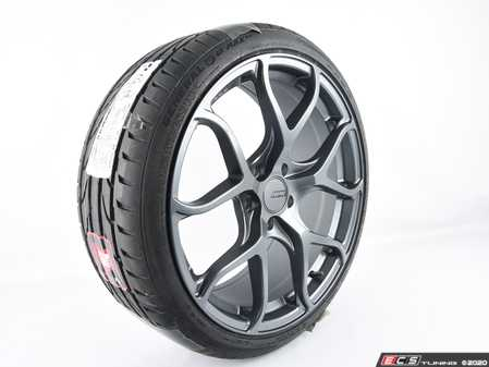 "ES#4141388 - 15492980000sd - 19"" APR A01 Wheel & Tire Package - 235/35ZR19 - Priced Each - *Scratch And Dent* - 19""x8.5"" ET45 5x112 - Gunmetal Gray - With General G-Max RS Tire - General Tire - Audi Volkswagen"