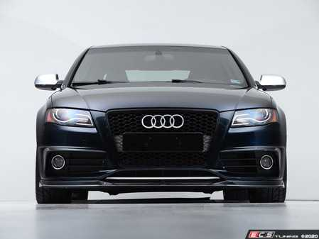 ES#4164865 - 028805ecs01KT - Audi B8 S4 / A4 S-Line Pre-Facelift Front Lip - Gloss Black - Upgrade your exterior styling! - ECS - Audi