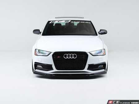 ES#4164657 - 028806ecs01KT - Audi B8.5 S4 / A4 S-Line Facelift Front Lip - Gloss Black - Upgrade your exterior styling! - ECS - Audi