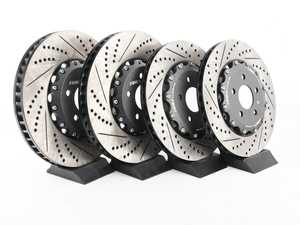 ES#4056683 - 023938ecs02KT - Front & Rear 2-Piece Brake Rotor Kit - No Pads - Direct bolt-on replacement - up to 16% less weight! - ECS - Audi