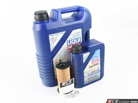 ES#4013669 - 11428575211-1KT - Liqui Moly Leichtlauf Oil Change Kit - Featuring Leichtlauf High-Tech engine oil, Hengst filter, and a new drain plug. - Assembled By ECS - BMW