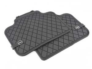 ES#3185856 - 51472447608 - Essentials Rear All Weather Rubber Factory Floor Mats Set Black - Priced As Set  - Replace or upgrade to factory MINI mats - Genuine MINI - MINI