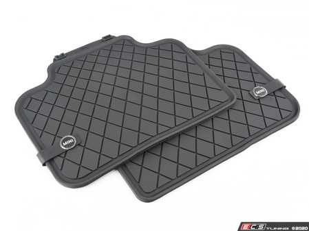 MINI Genuine Floor Mats All-Weather Rear Set Essential Black F60 51472447608