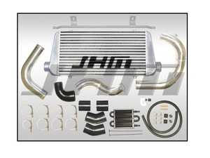 """ES#4142092 - B720TFMICLC-BLAC - Front Mount Intercooler Kit - Large Core - Black Couplers - Featuring a robust 3"""" thick core, ensuring the best cooling performance possible! Includes charge piping for Ko3/Ko4 Turbos - JH Motorsports  - Audi"""