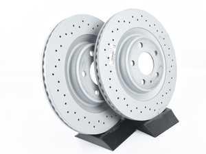 "ES#4141822 - 4h0615601hdKT - Rear Cross Drilled Brake Rotors - Pair (330x22) - Features an Anti-Corrosion coating ""Anti-Z"" - Zimmermann - Audi"