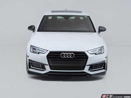 ES#4147652 - 028802ecs01KT - Audi B9 A4/S4 Front Lip Spoiler - Gloss Black - Upgrade your exterior styling! - ECS - Audi