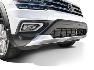 ES#4138837 - VA28D01 - Front Bumper Guard - Satin Black & Satin Chrome - Easily installs on to your factory from bumper! - Air Design - Volkswagen