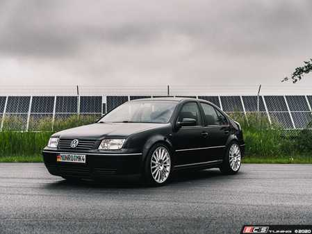 ES#4348795 - 003946LB02KT -  MK4 Golf/GTI/Jetta Adjustable Damping Coilover System - With Installation Kit - Features 32 way adjustable damping, variable length, zinc-coated shock bodies and performance sway bar end links. Includes all new mounts, bearings and hardware for a comprehensive suspension package. - ECS - Volkswagen