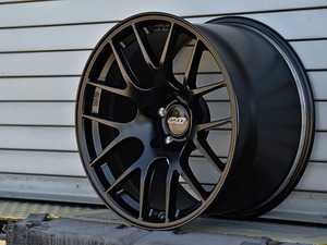 """ES#4056129 - EC7R189522SBKT - 18"""" APEX Forged EC-7R Square Wheel Set - Satin Black - The APEX forged EC-7R is a significant step forward. Now lighter and stronger than the original flow formed version and with completely redesigned barrel profiles that clear big brakes. 18x9.5 ET22 72.5CB - APEX Wheels - BMW"""