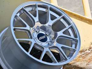 """ES#4056131 - EC7R189522SKT - 18"""" APEX Forged EC-7R Square Wheel Set - Polished - The APEX forged EC-7R is a significant step forward. Now lighter and stronger than the original flow formed version and with completely redesigned barrel profiles that clear big brakes. 18x9.5 ET22 72.5CB - APEX Wheels - BMW"""