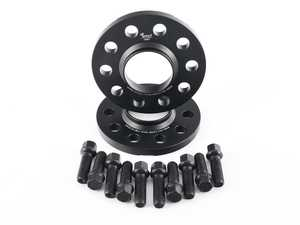 ES#4042993 - EMDSPACER125665B - EMD Auto 12.5mm Wheel Spacers - Pair (With Bolts) - Manufactured out of high quality 6061-T6 aluminum, and black anodized for corrosion resistance - 5x112, 66.5 Center Bore - Emmanuele Design - Audi