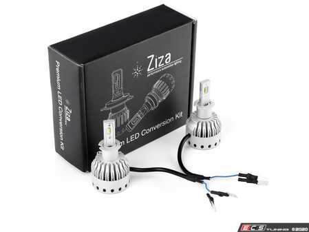 ES#4138601 - 003452LB01-01 - H3 Premium LED Conversion Kit  - Set of 2 4500lm, 60W combined plug and play LED headlight bulbs with a compact all-in-one design - ZiZa - Audi BMW Volkswagen Mercedes Benz MINI Porsche