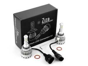 ES#4138740 - 003452LB01-06 - 9006 Premium LED Conversion Kit  - Set of 2 4500lm, 60W combined plug and play LED headlight bulbs with a compact all-in-one design - ZiZa - Audi BMW Volkswagen Mercedes Benz MINI Porsche