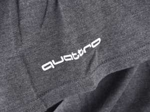 ES#3133461 - ACM3001CHAXL - Quattro T-Shirt - Charcoal - XL - Sometimes less is more. Make yourself known with the quattro T-Shirt. 100% combed and ringspun cotton. - Genuine Volkswagen Audi - Audi BMW Volkswagen Mercedes Benz MINI Porsche