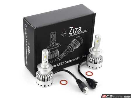 ES#4138603 - 003452LB01-03 - H7 Premium LED Conversion Kit  - Set of 2 4500lm, 60W combined plug and play LED headlight bulbs with a compact all-in-one design - ZiZa - Audi BMW Volkswagen Mercedes Benz MINI Porsche