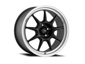 "ES#4147233 - ct87100455KT - 17"" KONIG Countergram Flow Formed Wheel Set - Matte Black / Matte Machined Lip - 17x8 4x100 ET45 with correct hubcentric ring for the 56.1CB fitment - Konig - MINI"