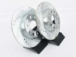 ES#4147616 - EBR1204XPRsd - Rear Cross-Drilled And Slotted Evolution Rotors - Pair (272x10) - *Scratch And Dent* - Zinc coated performance rotors *Please see description prior to ordering* - Power Stop - Audi Volkswagen