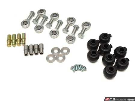 ES#4147666 - 034-401-Z055 - Adjustable Upper Control Arm Rebuild Kit - Rebuild kit for 034 Fully Spherical Adjustable Upper Control Arms for Audi B5/B6/B7 Applications! These parts are a direct replacement for the rod ends, hardware, and dust boots. - 034Motorsport - Audi