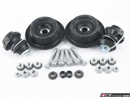 ES#3984713 - 1H0498001KT3 - ECS Cup Kit/Coilover Installation Kit  - Includes all the necessary suspension parts that should be replaced while installing new shocks/struts or coilovers. Includes Febi front strut mounts. - Assembled By ECS - Volkswagen
