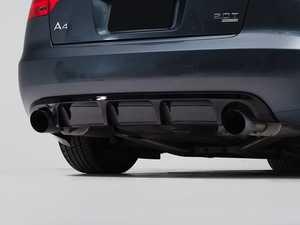 ES#4057347 - 006118LA01 - Audi B7 A4 Rear Diffuser - Gloss Black - Add some aggressive styling to your Audi! - ECS - Audi