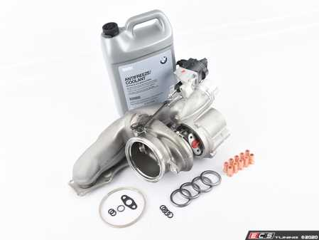 ES#4017922 - 11657642469kt - N20 Turbocharger Replacement Kit  - Includes new original equipment turbocharger manufactured by Mitsubishi, installation hardware, and coolant - Assembled By ECS - BMW