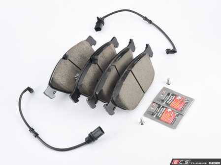 ES#4067242 - 4H0615301KT - Front Brake Service Kit - Featuring Zimmerman rotors and Akebono pads with wear sensors - Assembled By ECS - Audi