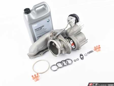 ES#4017899 - 11657635803KT - N20 Turbocharger Replacement Kit  - Includes new original equipment turbocharger manufactured by Mitsubishi, installation hardware, and coolant - Assembled By ECS - BMW