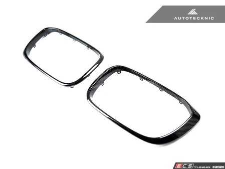 ES#4151085 - ATK-BM-0118-CF - Dry Carbon Grille Surrounds - Add the stylish dry carbon fiber look to your BMW's kidney grilles! - AUTOTECKNIC - BMW