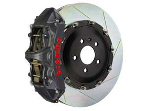 ES#4158473 - 1N2.9003AS - Brembo GT-S Front Big Brake Kit - 380mm Slotted Rotors W/ Black Hard Anodized Calipers - E9X M3 - Features Slotted Rotors and Black Hard Anodized 6-Piston Calipers - Brembo - BMW