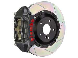 ES#4158441 - 2P2.8033AS - Brembo GT-S Rear Big Brake Kit - 345mm Slotted Rotors W/ Black Hard Anodized Calipers - E9X M3 - Features Slotted Rotors and Black Hard Anodized 4-Piston Calipers - Brembo - BMW