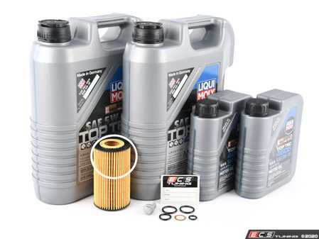 ES#3691259 - 6511800109KT2 - OM651 Sprinter I4 Diesel Oil Change Kit - 5w-30 - Featuring MB 229.52 Approved Liqui Moly Top Tec 4605 5w-30 Engine Oil and Hengst Filter - Assembled By ECS - Mercedes Benz