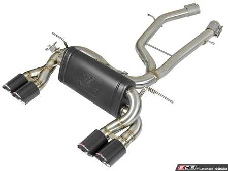 ES#4158538 - 49-36338-1C - MACH Force-Xp Axle-Back Exhaust System - Carbon Fiber Tips - Increase your BMW's exhaust flow and power! - AFE - BMW