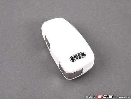 ES#1877558 - 8R0063827D - Audi USB Flash Drive - 4GB - White - Matches the latest Audi key fob, push button releases the USB connector - Genuine Volkswagen Audi - Audi